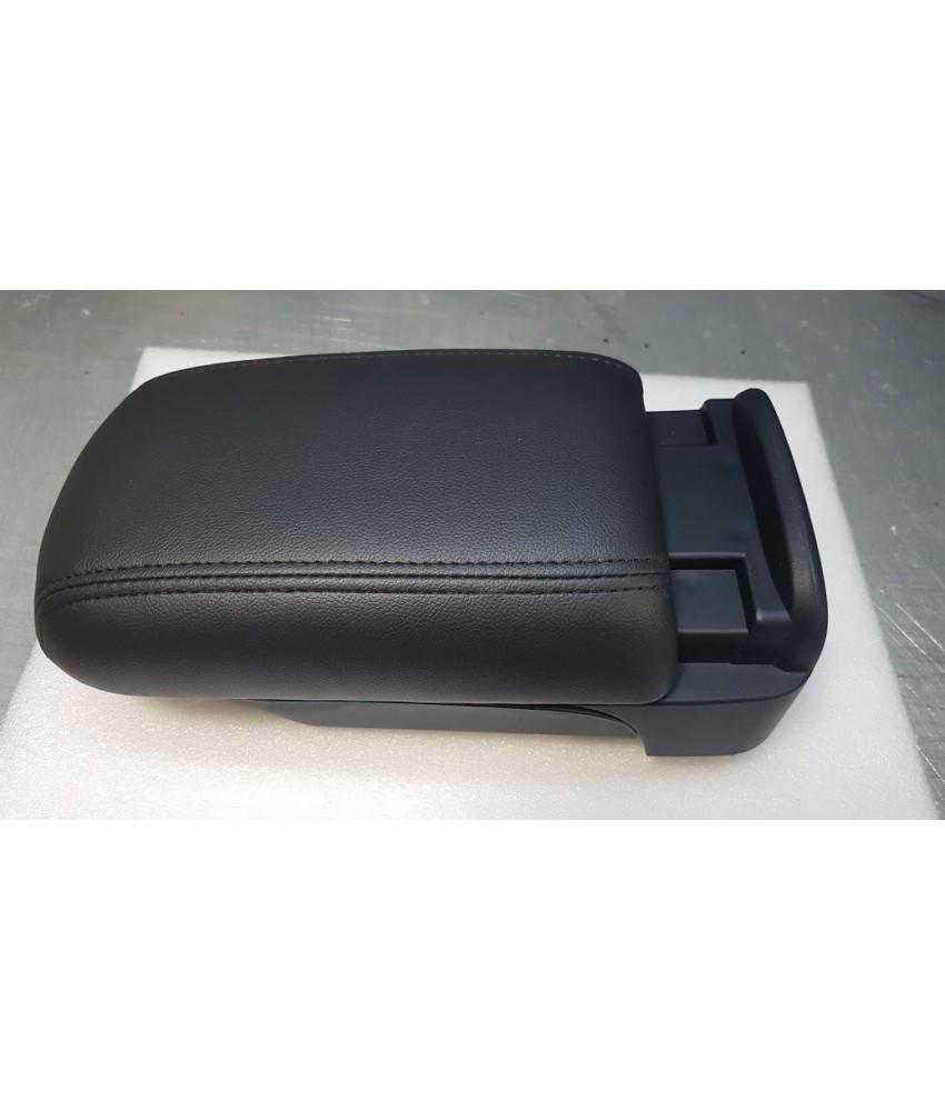 Подлокотник двойной сдвижной кожаный, ЧЕРНАЯ Строчка, штатный для Lancer X и Pajero Sport