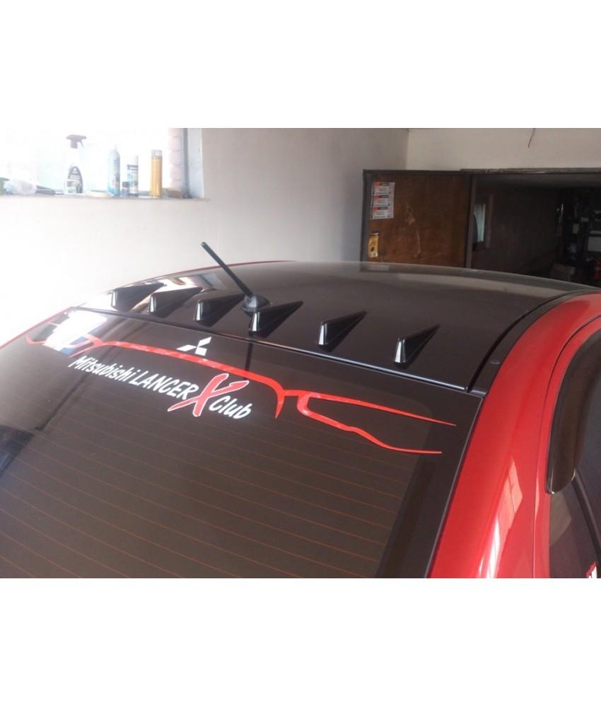 Аэродинамический рассекатель (накладка на крышу) Zodiak Generator для Mitsubishi Lancer X, некрашеный