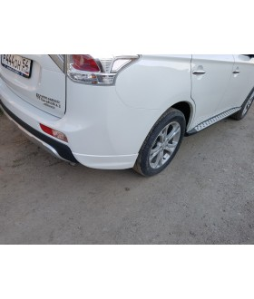 Клыки заднего бампера Mitsubishi Outlander((3rd generation) Broomer